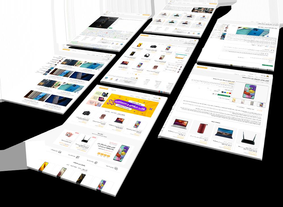 صفحات قالب بوت استرپ فروشگاهی روبیک مارکت